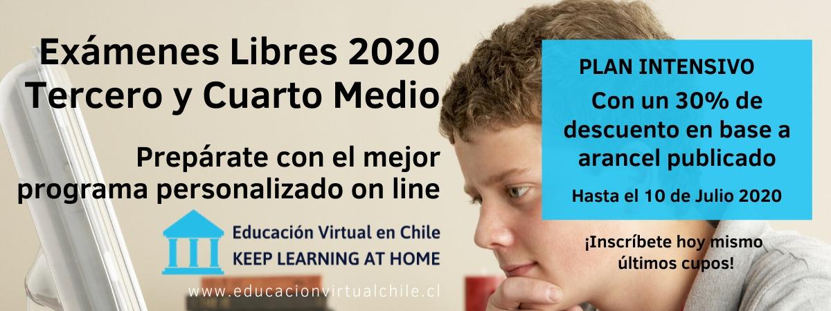 Exámenes libres 2020 preparación intensiva Tercero y Cuarto Medio