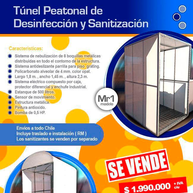 Tunel sanitizador peatonal
