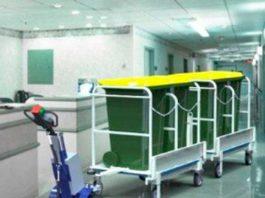 Carros eléctricos para el manejo de cargas en hospitales y clínicas