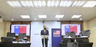 Ministerio de Salud recibe donación de ocho ventiladores mecánicos donados por la Embajada de Estados Unidos