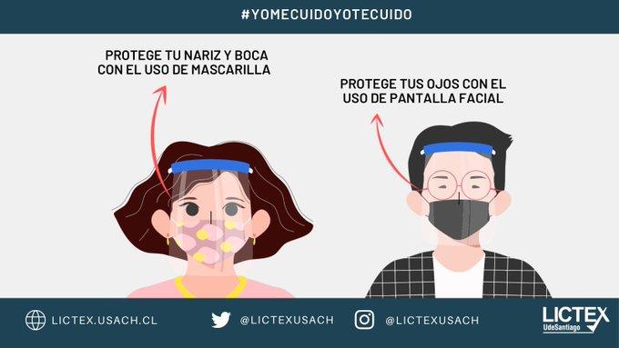 Único laboratorio en Chile que certifica mascarillas, entrega recomendaciones sobre uso de doble de mascarillas