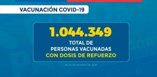 Chile superó el millón de dosis de refuerzo aplicadas de la vacuna contra SARS-CoV-2