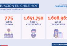 COVID-19 Se reportan 775 casos nuevos y 74.774 exámenes a nivel nacional en las últimas 24 horas
